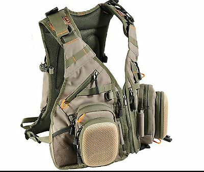 Airflo Outlander Fishing Anglers Fly Vest Pack Pockets25L