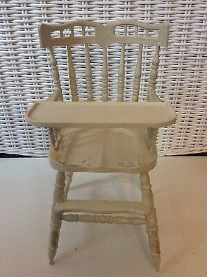 Vintage Collectible Ideal Thumbelina Nursery Furniture Doll High Chair w/ Tray