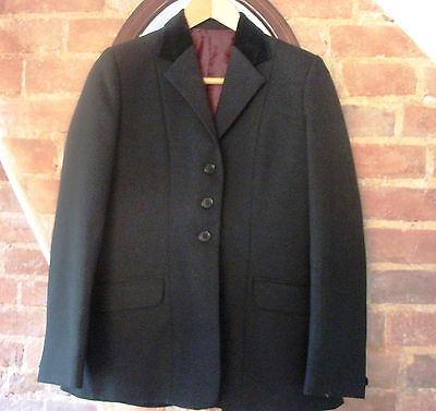 Ladies  Tagg Black Equestrian Competition Show Jumping Jacket Velvet Collar