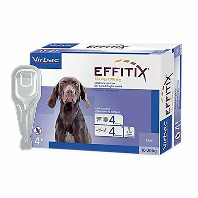 EFFITIX MEDIUM (10-20 kg) - Efficace antiparassitario per cani