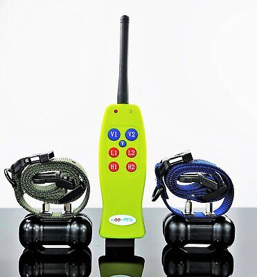 Groovypets 1200F Remote Rechargeable Trainer Dog Training Vibration Shock Collar