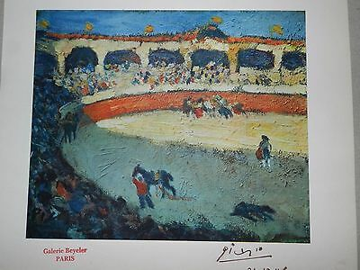 Pablo Picasso hand signed 1946 rare vintage lithograph print FREE SHIPPING
