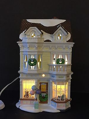 Department 56 Snow Village Little Tots Baby Goods Battery Operated Lighted Bldg