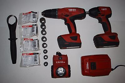 Hilti Combo 3 piece SFH-18a SID-18a SFL-18a BAG charger with Accs