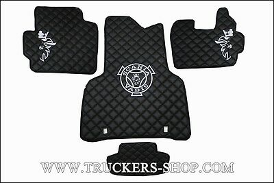 Scania P Leatherette Floor Set In Black  [Truck Parts & Accessories]