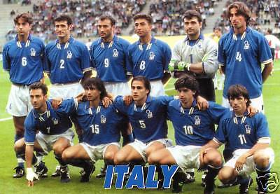 Italy Squad Team Postcard FIFA France 1998 World Cup