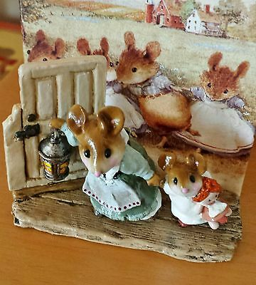 """Wee Forest Folk  SCR-04 """"Mommy & Missy Dash Up To The Attic"""" green Mint"""