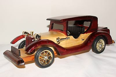 Vintage Hand Crafted Wooden Car Collectible.