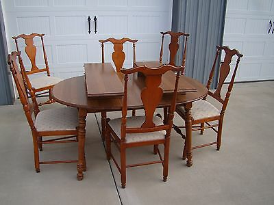 Tell City Dining Table w/ 5 Thomasville Chairs Maple