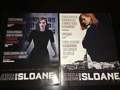 2 MISS SLOANE Jessica Chastain Oscar Globe advertisement Academy Award ad