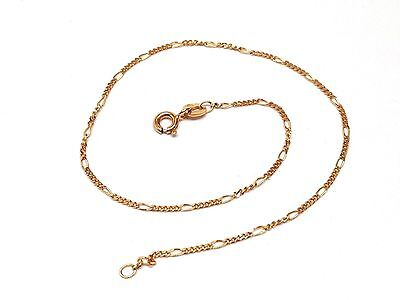 14k Yellow Gold Figaro Style Anklet 8683-2