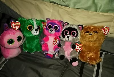 Beanie boo lot - Dill, Barley, Rocco, Roxie & Scooter with tags