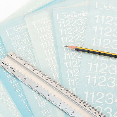 Letraset NUMERALS HELVETICA LIGHT Rub On Transfer Letters CHOOSE SIZE+DISCOUNTS