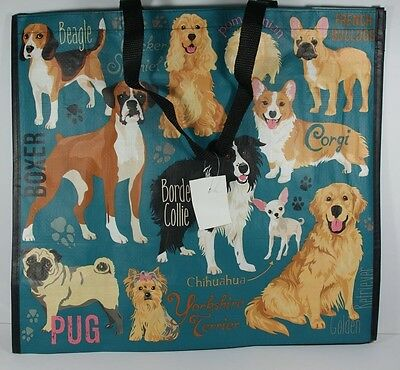 Reusable Shopping Travel Tote Bag Dogs Eco Friendly Marshalls New