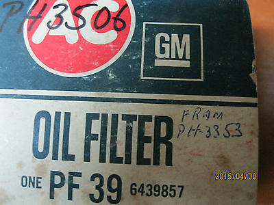 AC Delco GM Oil Filter NOS PF39 6439857