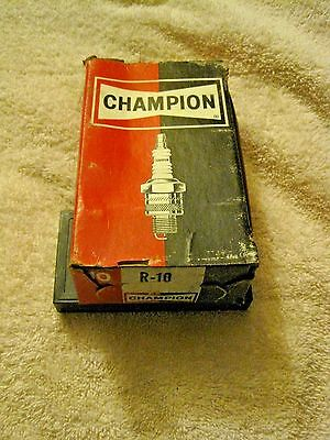 Vintage Champion NEW Old Stock R-10  Spark Plugs Set of 10