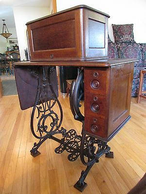 Vintage Willcox And Gibbs Treadle Sewing Machine