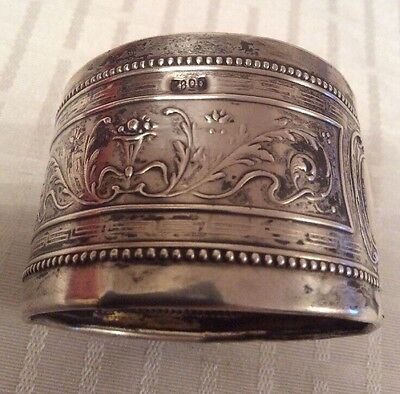 Solid Silver Napkin Ring 800 Silver Vintage