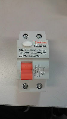 8-PEOPLE - Residual-Current Circuit Breaker (RCD) 16A (RDX16L-63)