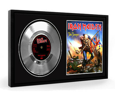 Iron Maiden The Trooper Framed Silver Disc Display Vinyl (LO)