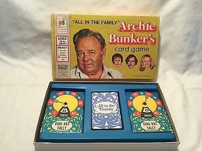 Vintage ~ 1972 ~ Milton Bradley ~ All in the Family Archie Bunker's Card Game