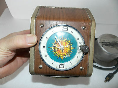 vintage coin operated QUALITY HOTELS bed vibrator clock MAGIC FINGERS