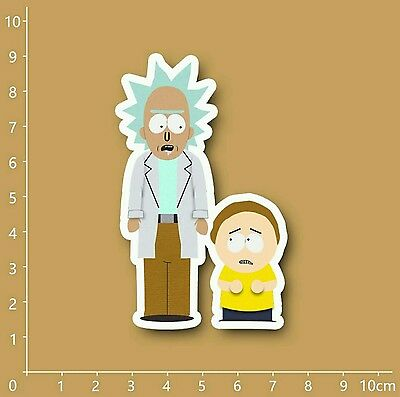 "Rick and Morty South Park style Decal Sticker (2""x 3"")"