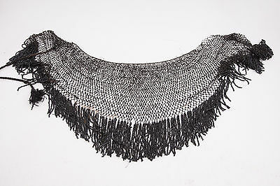 Mourning Shawl Wrap Jet Beads Black Victorian (C4L) For parts repair
