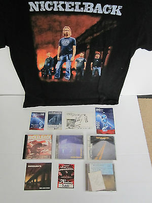 Nickelback The Ultimate Fan Lot Cd Postcard Backstage Pass Autographed Signed