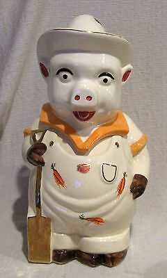 Shawnee Limited Edition Farmer Cookie Jar Orange with Carrots