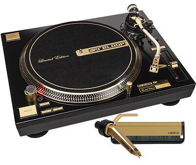 Gold Vinyl RP-7000 Reloop Limited Edition DJ Turntable Package with Gold Stylus