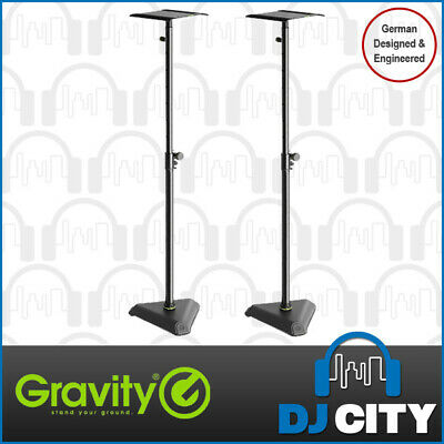 Gravity Studio Monitor Stand Pair With Tilt Adjust - Heavy Duty Set of 2 - NEW