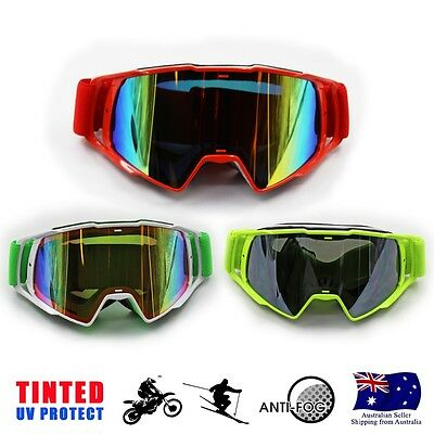 Lady Women Ski Skiing Snow Snowboarding Snowmobile Tinted Goggles UV Protect