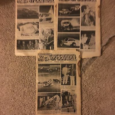 VINTAGE RACE CAR PUBLICATION Illustrated Speedway  NEWS  3 Issues From 1976