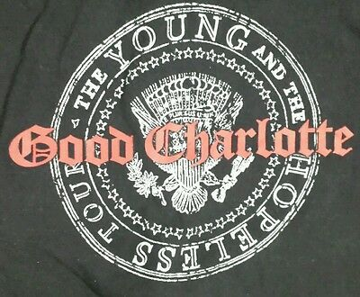 Good Charlotte 2003 Official Concert T Shirt Men's L~ Young and Hopeless Tour