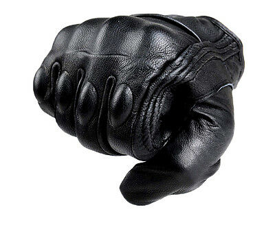 Summer Motorbike Motorcycle  Premium Protective Armor Short Leather Gloves