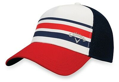 New 2017 Callaway Golf Stripe Mesh Hat Size Large/xl