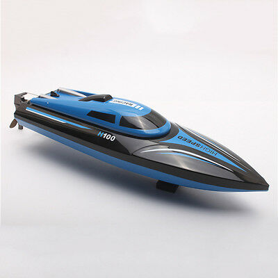 2.4G 4 Channel Water Cooling High Speed RC Remote Control Boat Blue with LCD