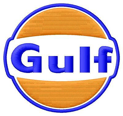 Gulf ecusson brodé patche Thermocollant iron-on patch