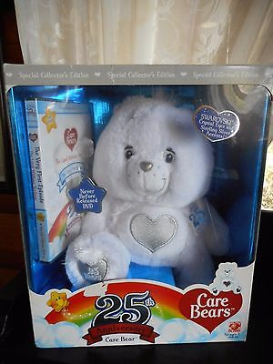 CARE BEARS 25th ANNIVERSARY with DVD NRFB  Plush Animal