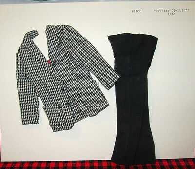 """1964 Barbie KEN DOLL OUTFIT~JAPAN~""""COUNTRY CLUBBIN`""""~#1400~COMPLETE+MINT~TM TAG~"""