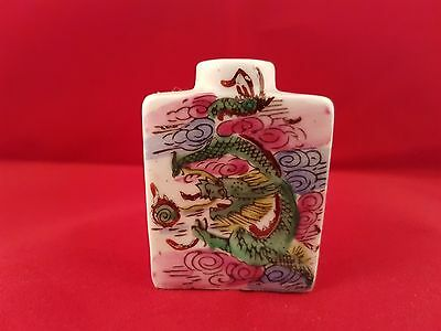 chinese dragon snuff bottle