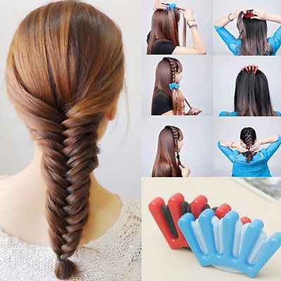 1Pc New Lady Wonder Sponge Hair Braider Twist Styling Braid Tool Holder Clip DIY