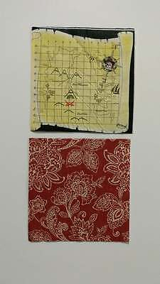 2 Single Paper Napkins For Decoupage Collection Flowers, Map, Pirate, Compass
