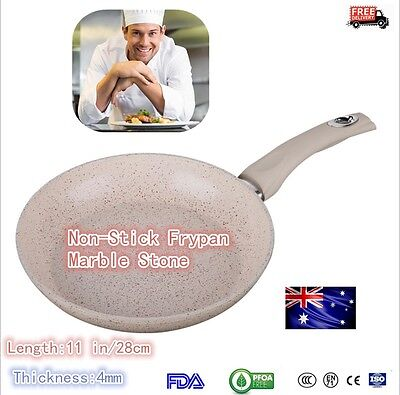 Non-Stick Frypan Fry Pan Marble Stone Ceramic Coated Skillet Cookware 28cm New