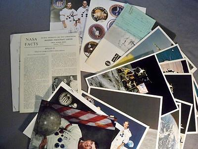 Vintage Nasa Lot Apollo 16 Publications, Astronaut Photos, Moon Walk Lithos, Etc