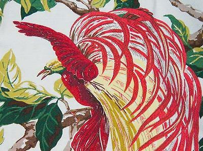 1940s/50s Vintage Gorgeous Bird of Paradise BarkCloth - Unused - Last Piece!
