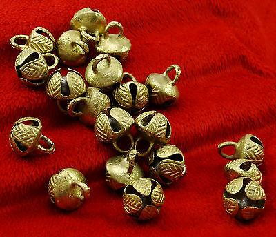 Goldtone Indian Classical Dancing Ghungru Traditional Craft Jewelry Supplies