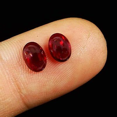 100% Natural Wonderful Small Garnet Loose Cabochon Fancy Gemstones Lot Of 2PC