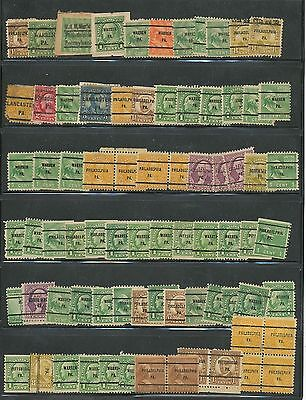 STOCKPAGE OF PENNSYLVANIA PRECANCELS, Unchecked For Better Stamps Or Cancels!